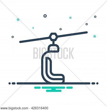 Mix Icon For Ski-lift Ski Lift Slope Ropeway Slope Cabin Transport