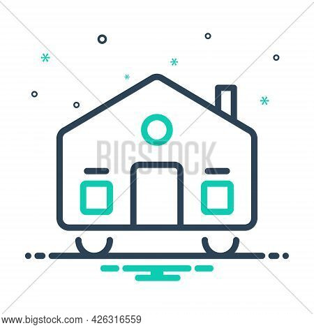 Mix Icon For Mobilhome Dynamic Mobile Moveable Dapper Movable Astir Home Caravan
