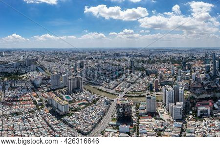 Aerial View Of Saigon In The Morning Day