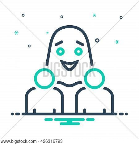Mix Icon For Materialise Exteriorize Externalize People Ghost