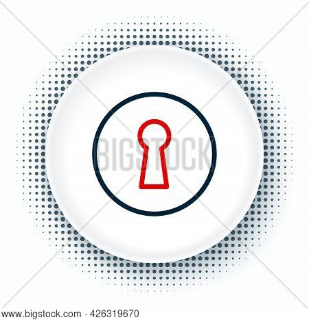 Line Keyhole Icon Isolated On White Background. Key Of Success Solution. Keyhole Express The Concept