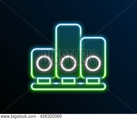 Glowing Neon Line Ranking Star Icon Isolated On Black Background. Star Rating System. Favorite, Best