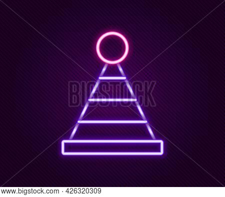 Glowing Neon Line Party Hat Icon Isolated On Black Background. Birthday Hat. Colorful Outline Concep