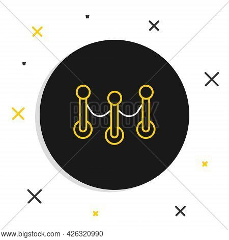 Line Rope Barrier Icon Isolated On White Background. Vip Event, Luxury Celebration. Celebrity Party