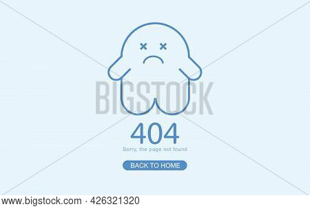 Modern Minimal Of 404 Error Page For Website, 404 Error The Page Not Found With Dead Ghost. Concept