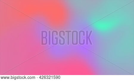 Holographic Neon Abstract Background. Multicolor Backdrop With Gradient Mesh. Minimal Simple Retro S