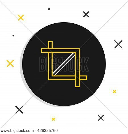 Line Picture Crop Photo Icon Isolated On White Background. Colorful Outline Concept. Vector