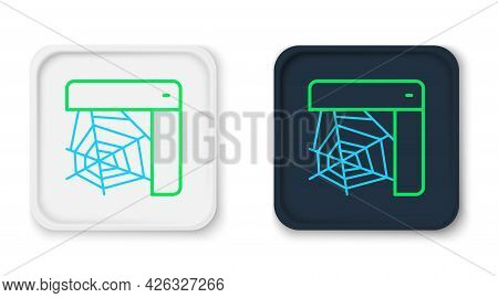 Line Spider Web Icon Isolated On White Background. Cobweb Sign. Happy Halloween Party. Colorful Outl