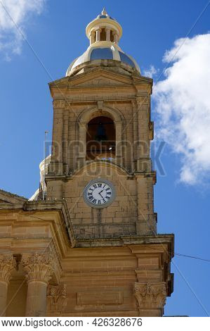 Dingli, Malta - 02 Jan, 2020: Detail Of Old, Historic And Authentic Christian Chapel St. Marys Paris