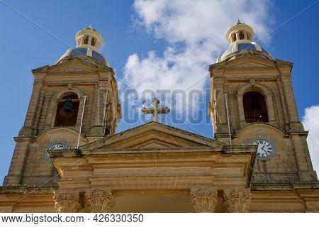 Dingli, Malta - 02 Jan, 2020: Old, Historic And Authentic Christian Chapel St. Marys Parish Church I
