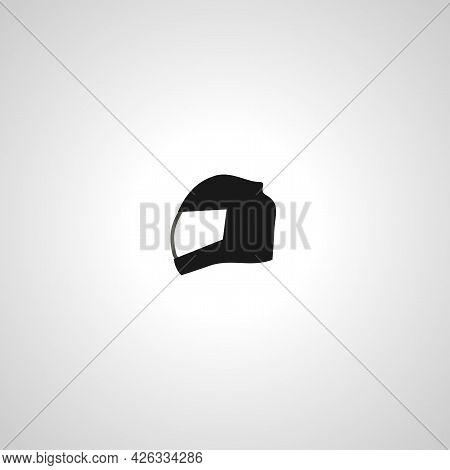 Motorcycle Helmet Sign. Sport Helmet Isolated Simple Vector Icon