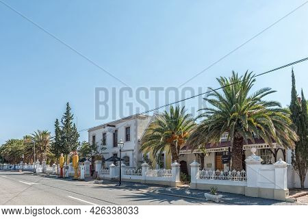 Matjiesfontein, South Africa - April 20, 2021: A Street Scene In The Historic Victorian Village Of M