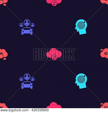 Set Head Hunting Concept, Car Sharing, Music Streaming Service And Methane Emissions Reduction On Se