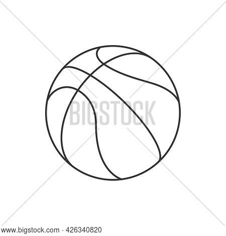 Basketball Ball Graphic Icon. Basketball Ball Sign Isolated On White Background. Vector Illustration