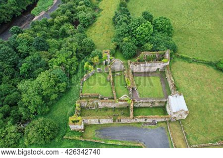 Aerial View Of Bridgetown Abbey, A 13th-century Augustinian Monastery Of The Canons Regular Of St. V