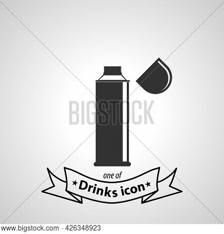 Thermos Bottle Sign. Thermos Bottle Isolated Simple Vector Icon