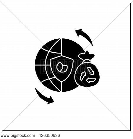 Sustainable Lifestyles Glyph Icon.thinking About The World, Life Processes.overthinking.reducing Ear