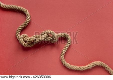High View Sailor Rope Knot. High Quality Beautiful Photo Concept