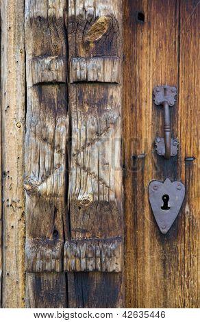 door's detail, Uvdal Stavkirke, Norway