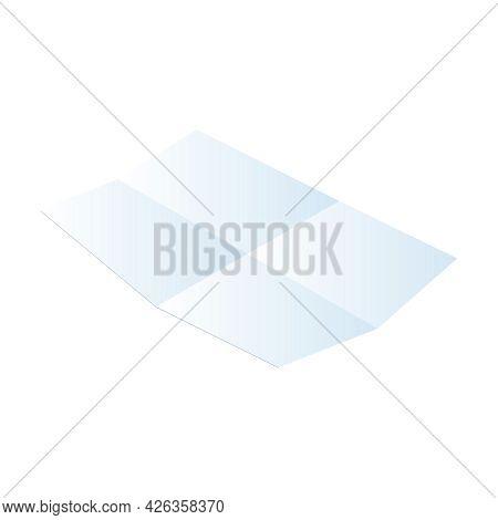 Blank Folded White Sheet Of Paper 3d Isometric Vector Illustration
