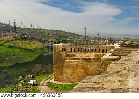 Derbent. Russia. April 09, 2021. Republic Of Dagestan. The Internal Architecture Of The Walls Of The