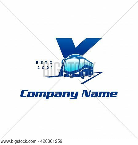 Modern And Stylish Logo Design Initial Y Combine With Bus.