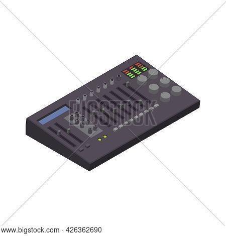 Isometric Professional Midi Controller For Recording Studio 3d Vector Illustration