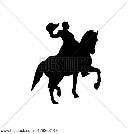 Trojan Horse Icon. Silhouette Of A Trojan Horse. Symbol Of A Computer Virus. Vector Icon Isolated On