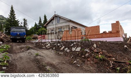 Terchova, Slovakia - July 3, 2021: Slovakia Mountain Hut