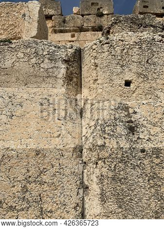 Trilithon, Mrgalith Stones At Jupiter Temple In Baalbeck