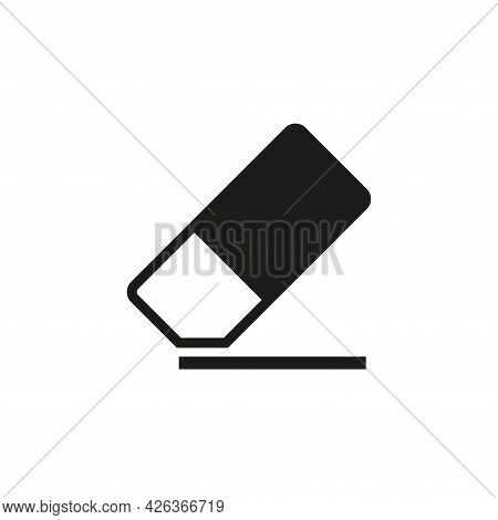 The Eraser Icon. The Eraser Erases, Cleans. Simple Vector Illustration On A White Background.