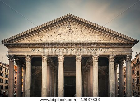 Famous Pantheon in Rome, Italy poster
