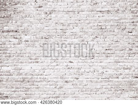 Red Grunge Brick Wall Background. Painted Texture
