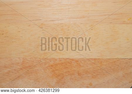 Pattern On Used Of The Wooden Cutting Board. Old Cutting Board. Plywood Pattern