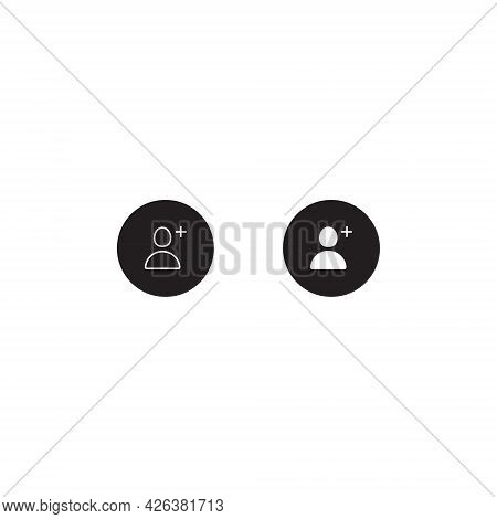 Add Follow Icon Vector. Add People Symbol Images