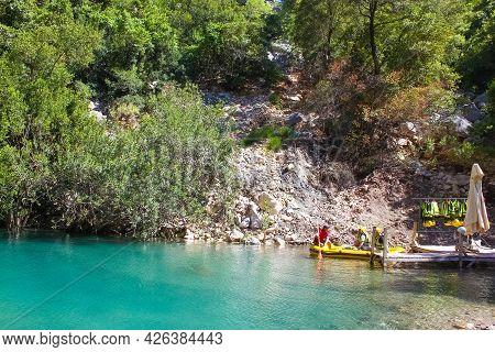 Goynuk, Antalya, Turkey - May 11, 2021: Trekking Along The Lycian Trail In The Canyon Of Harmony, Ne