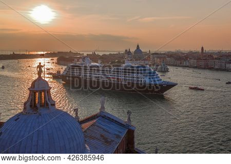 Venice, Italy - September 26, 2017: The Cruise Ship