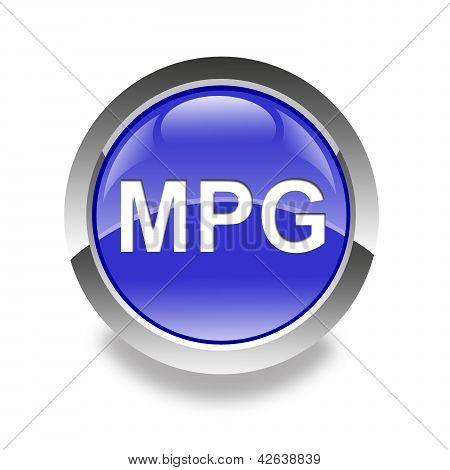 Icono brillante MPG