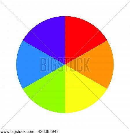 Color Wheel Pallet Spectrum Different Color Circle