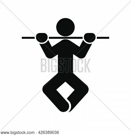 Man Doing Exercises Icon People In Motion Active Lifestyle Sign