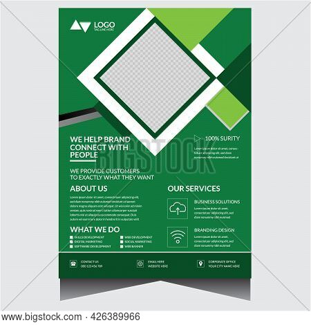 Green Creative Corporate Business Agency Flyer Design Template