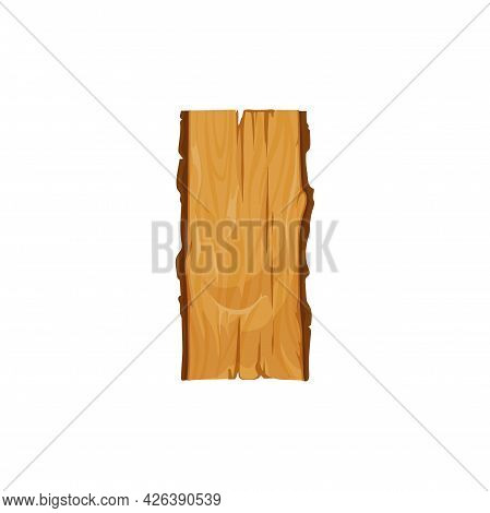 Wooden Log, Tree Trunk Isolated Cartoon Icon. Vector Bark Of Felled Dry Woods, Oak Or Pine Timber. W