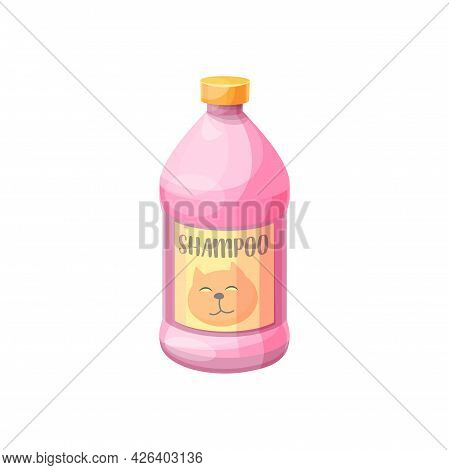 Cat Shampoo, Pets Health Care And Animals Washing And Grooming, Vector. Cat And Kitten Cleaning Sham