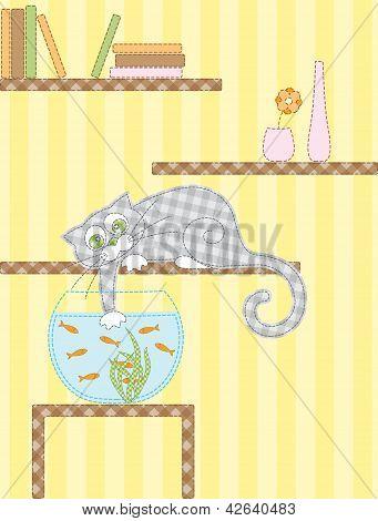 Cat And Aquarium