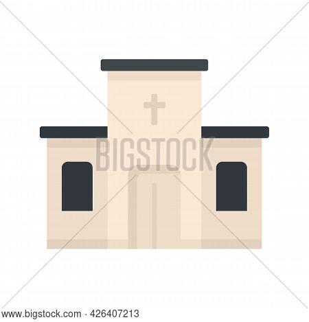 Catholic Church Icon. Flat Illustration Of Catholic Church Vector Icon Isolated On White Background