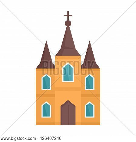 Europe Church Icon. Flat Illustration Of Europe Church Vector Icon Isolated On White Background