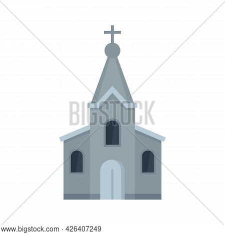 Stone Church Icon. Flat Illustration Of Stone Church Vector Icon Isolated On White Background