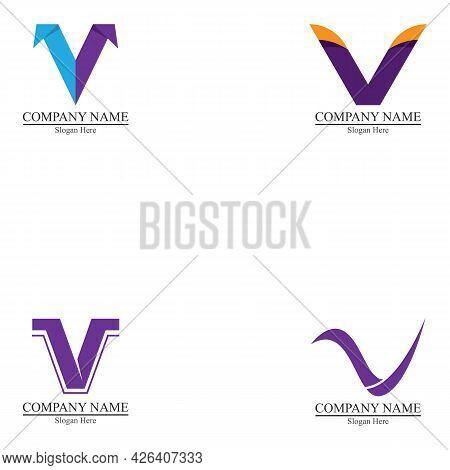 V Letter Logo Business Vector Design