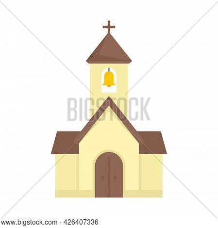 City Chapel Icon. Flat Illustration Of City Chapel Vector Icon Isolated On White Background