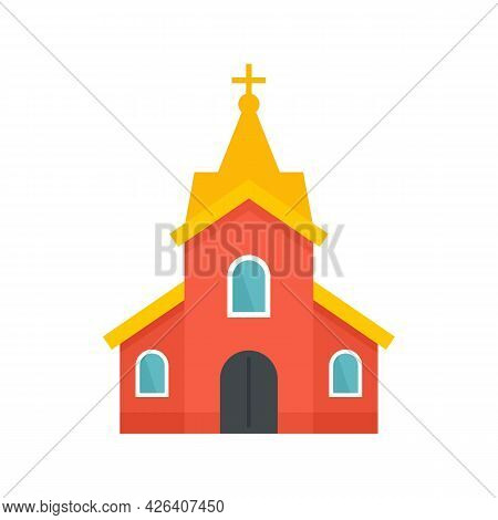 Church Building Icon. Flat Illustration Of Church Building Vector Icon Isolated On White Background